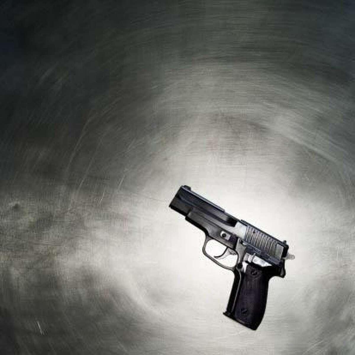 Close-up of a gun