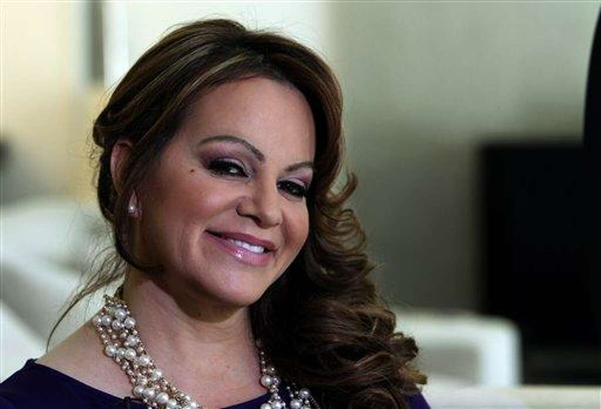 In this picture taken March 8, 2012, Mexican-American singer and reality TV star Jenni Rivera poses during an interview in Los Angeles. The wreckage of a small plane believed to be carrying Mexican-American music superstar Jenni Rivera was found in northern Mexico on Sunday and there are no apparent survivors, authorities said. AP Photo/Reed Saxon