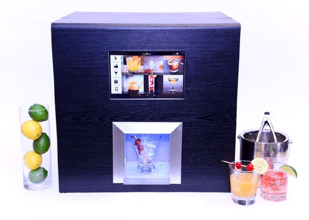 The Monsieur artificially intelligent robotic bartender. It can mix hundreds of different cocktails just the way you like them.