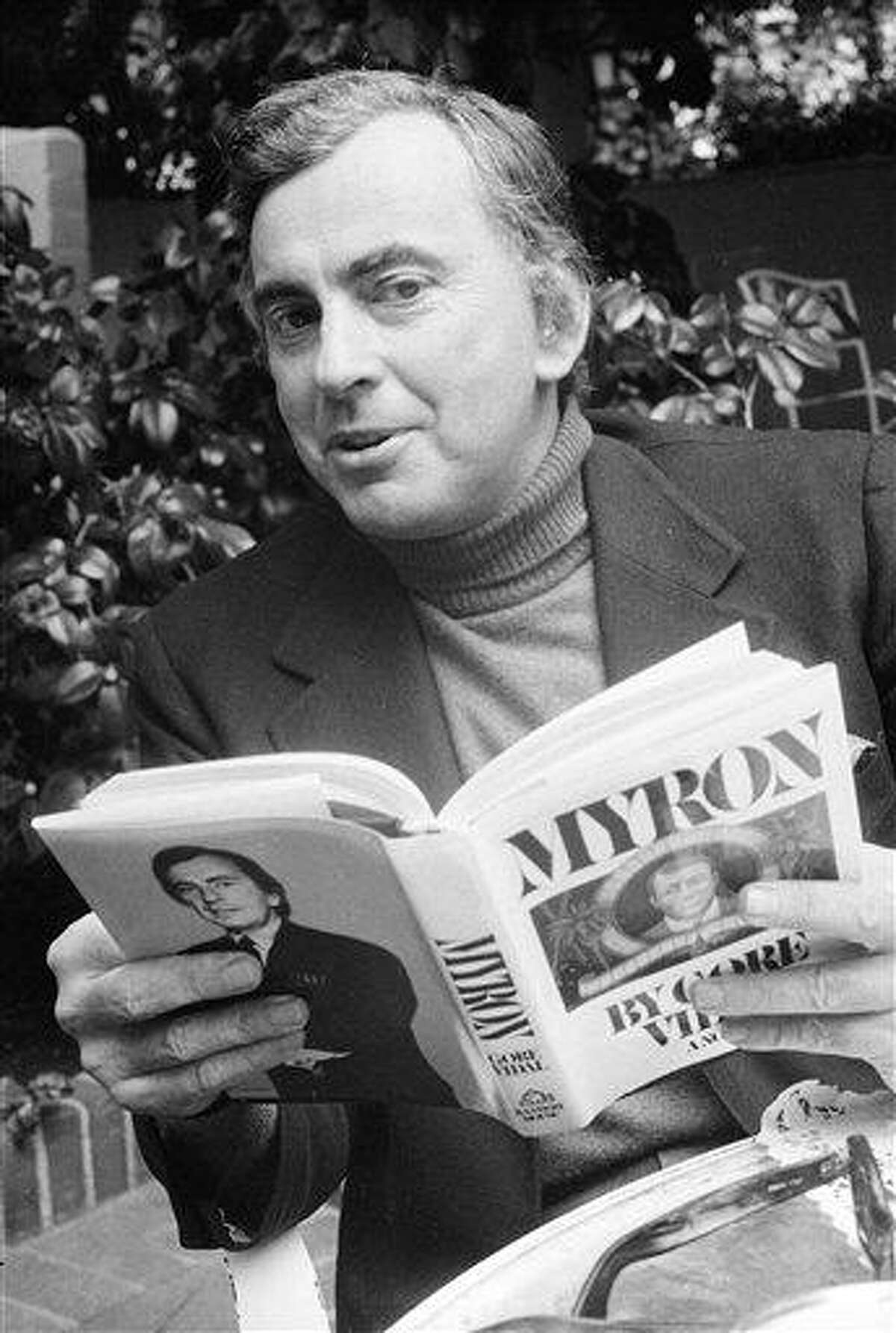 This 1977 file photo shows author Gore Vidal. Vidal died Tuesday at his home in Los Angeles. He was 86. Associated Press