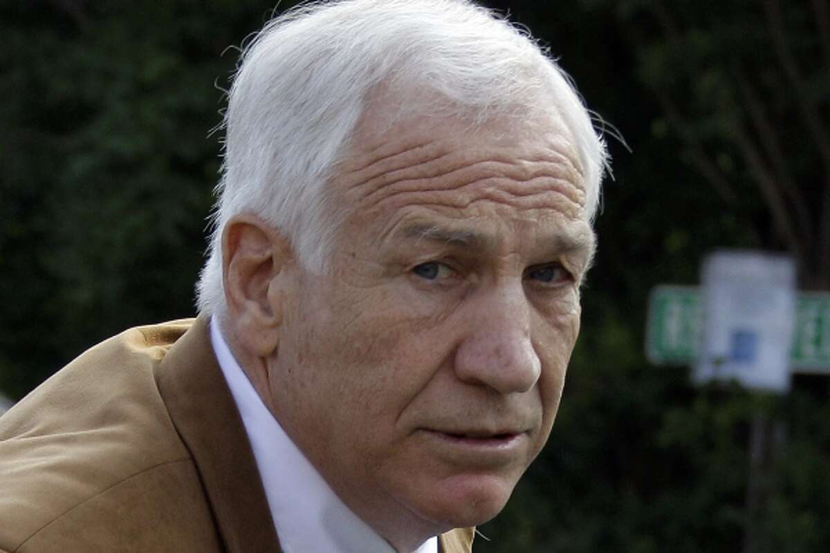 FILE - This June 22, 2012 file photo shows former Penn State assistant football coach Jerry Sandusky arriving at the Centre County Courthouse in Bellefonte, Pa. Sandusky should not get a new trial after being convicted of sexually abusing 10 boys, a Pennsylvania appeals court ruled Wednesday, Oct. 2, 2013. The decision by a three-judge Superior Court panel came barely two weeks after they heard oral arguments by Sandusky's lawyer and a state prosecutor. Sandusky, 69, is serving a 30- to...