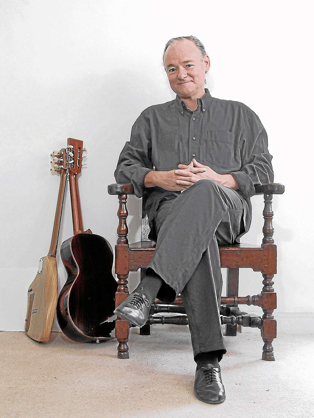 """Photo courtesy of Adrian LeggBritish guitarist Adrian Legg is scheduled to perform at Bridge Street Live Oct. 25. His custom guitars, a hybrid of electric and acoustic, and his finger-style picking technique, make him """"impossible to categorize."""""""
