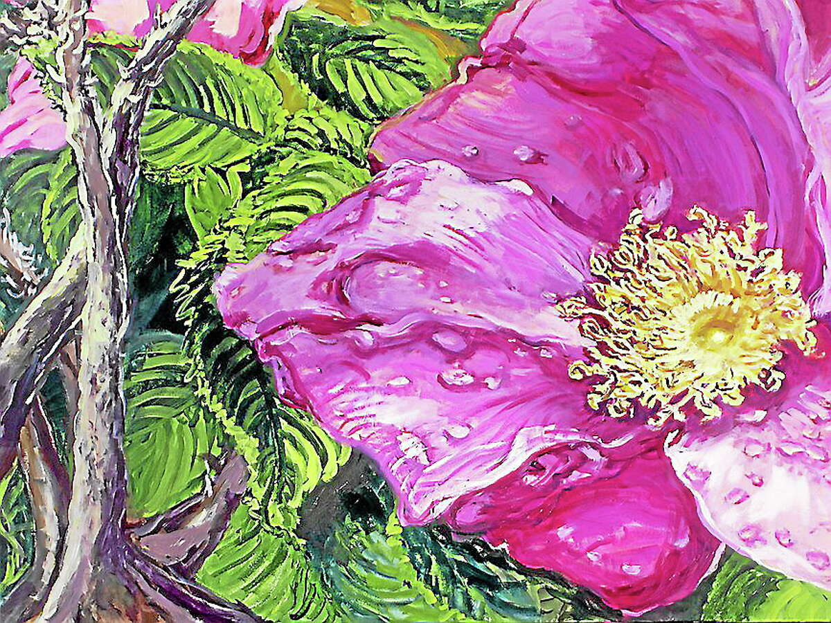 Submitted photos courtesy of the artistsBeach Rose, Outer Island Series, an acrylic on canvas by artist Leona Frank, is part of the