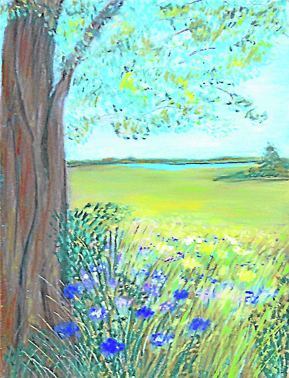"""""""View at Harkness Park,"""" a pastel Peggy Watkins."""