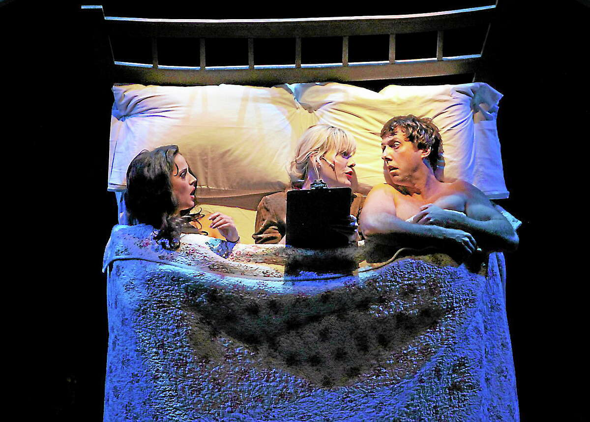"""Submitted photos - Anne HudsonHolly Holcombe, Sheila Coyle and Christopher Sutton in a scene from """"I love you, you're perfect, now change."""""""