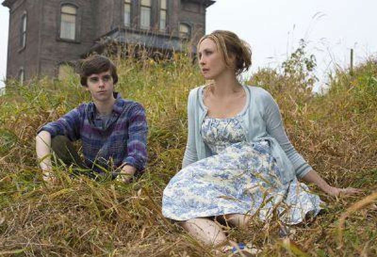 """Freddie Highmore as Norman Bates and Vera Farmiga as Norma Bates in A&E's """"Bates Motel"""" coming in March 2013. Photo by Joe Lederer Copyright 2011"""