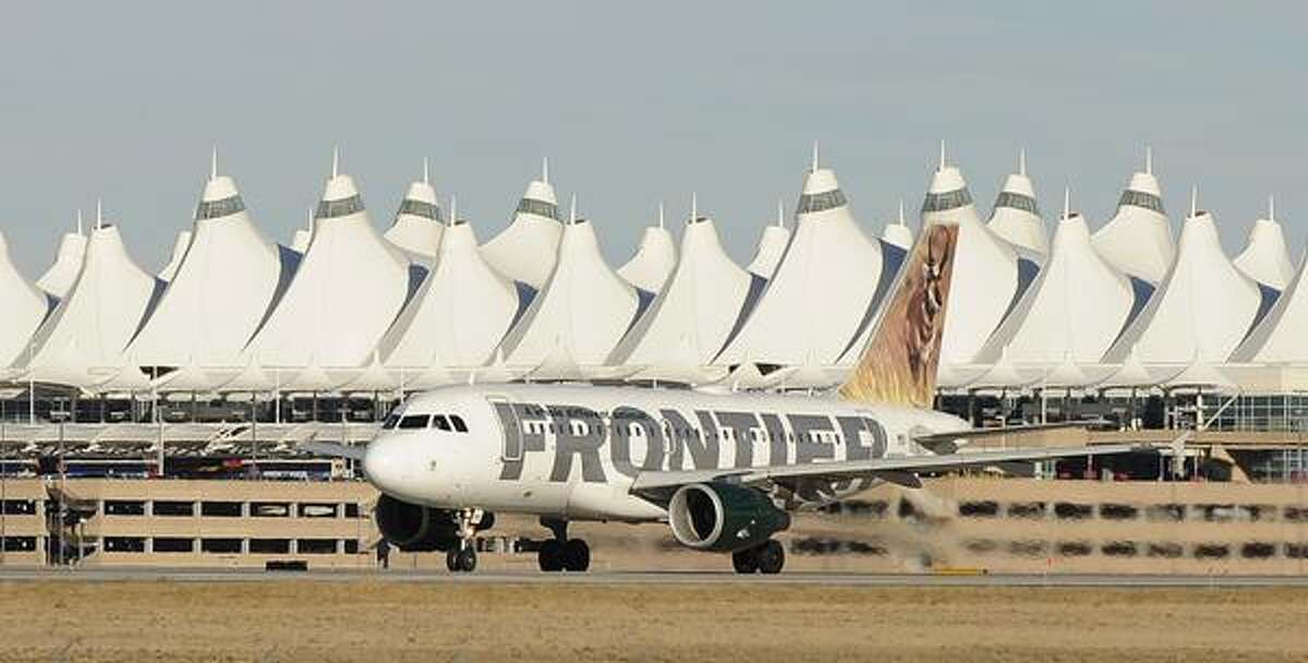 AIRPORTCAPACITY02-- Frontier is cutting capacity in 2009 at Denver International Airport. RJ Sangosti/ The Denver Post