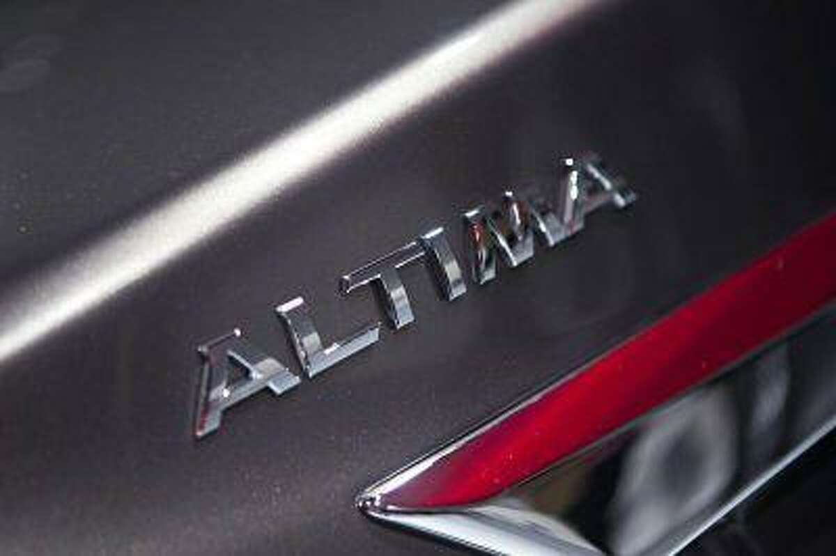 A detail of the new Nissan Altima is seen at the car's unveiling during the 2012 New York International Auto Show at the Javits Center.
