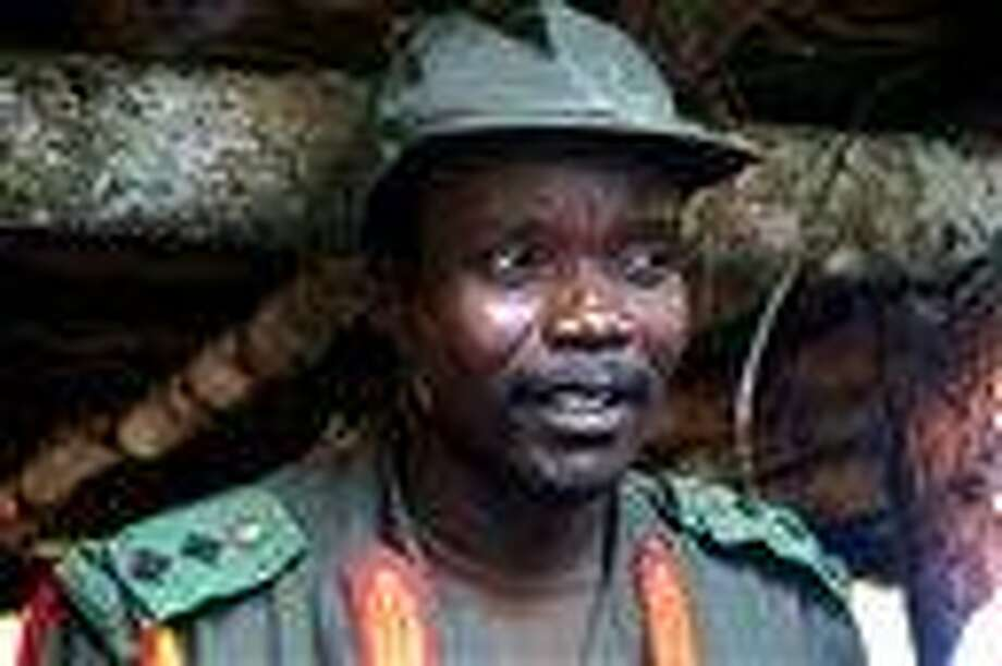 This 2006 file photo shows Joseph Kony, leader of the Lord's Resistance Army, during a meeting with a delegation of 160 officials and lawmakers from northern Uganda and representatives of non-governmental organizations in Congo near the Sudan border.  Associated Press Photo: AP / AP2006