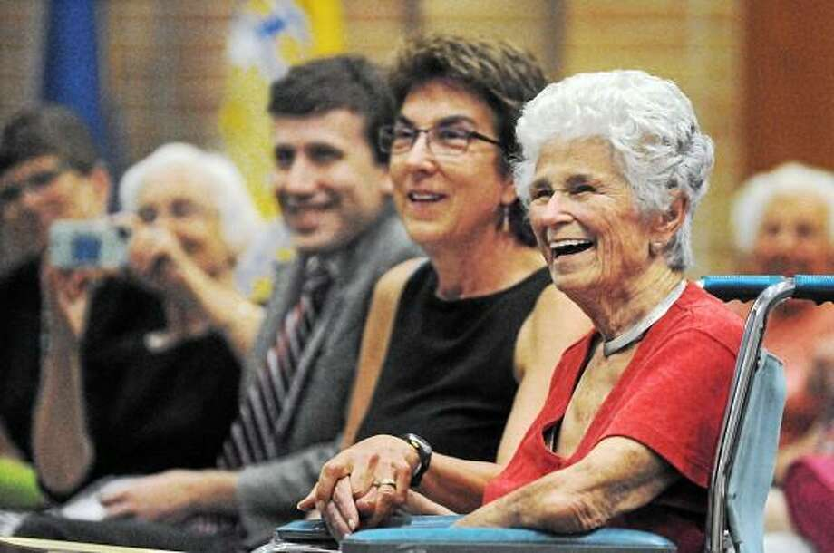Catherine Avalone - The Middletown Press  The City Council held a special session to honor and dedicate the Katchen Coley Mountain Laurel Preserve, the 50-acres of open space recently purchased in Maromas. Coley, a local conservationist and activist worked for decades preserving Middletown's open space. / TheMiddletownPress