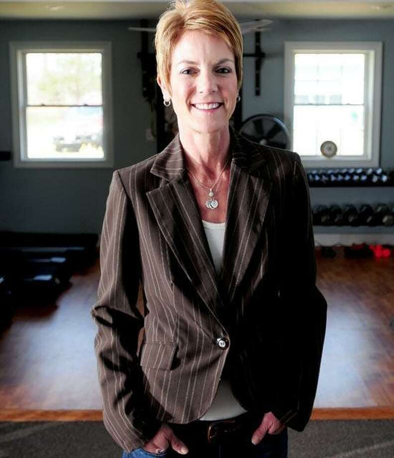 Fitness professional Heidi Shepherd is photographed at her home in Guilford.Arnold Gold/Register