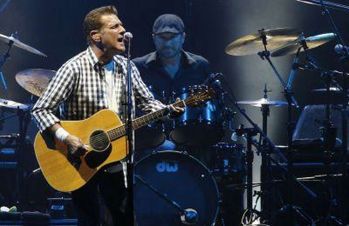 """Singer Glenn Frey of the rock group 'The Eagles' performs at a concert in honour of Monaco's Prince Albert II and his fiancee Charlene Wittstock at the Stade Louis II stadium in Monaco June 30, 2011. In London for the British premiere of their documentary, """"History of the Eagles Part One,"""" the U.S. band said they looked back now at the prolific use of drugs, particularly cocaine, in the 1970s and see it as a snapshot of those times."""