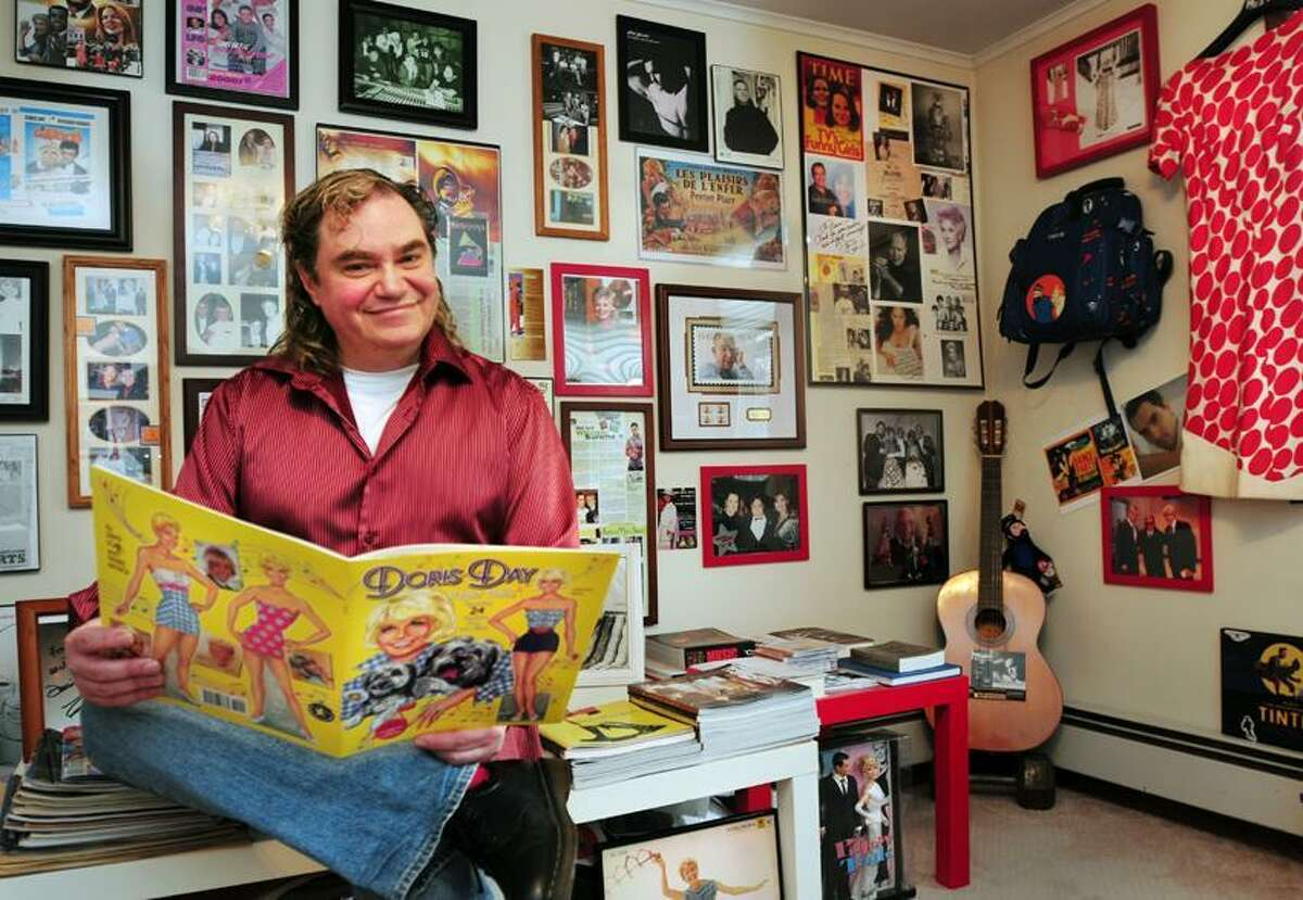 New Haven-Pierre Patrick with part of his collection. For Randy Beach Column Melanie Stengel/Register