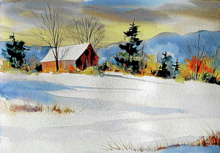 "Submitted photo courtesy of the artist'Winter Colors"" a watercolor by Bivenne Harvey Staiger, is part of the new show at Maple & Main in Chester, which will be part of the town's annual holiday festivities Dec. 6. Photo: Journal Register Co."