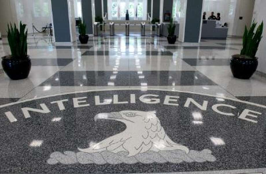 The CIA logo is displayed in the lobby of spy agency's headquarters in Langley, Va. Photo: AFP/Getty Images / 2012 AFP