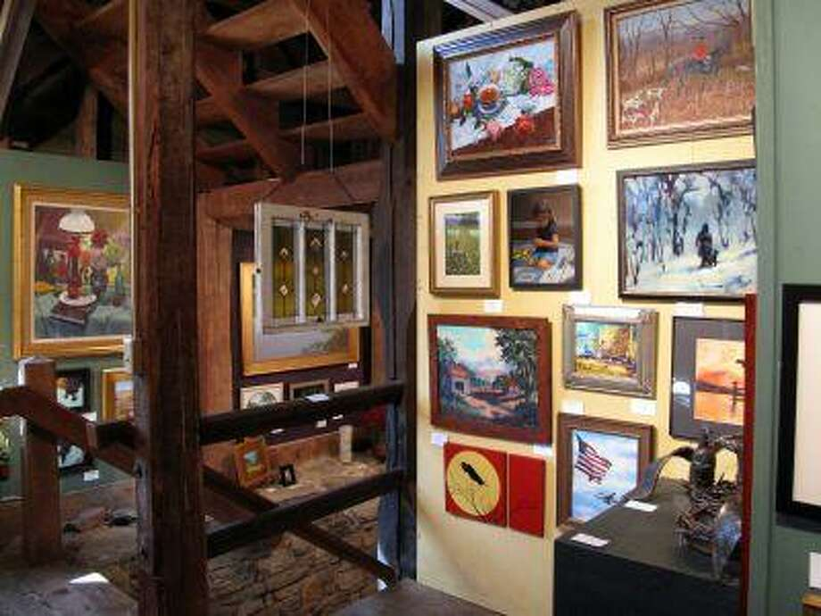 Creativity on display: works of art fill two floors of the Burwell-Morgan Mill in Millwood, Va. (For The Washington Post/Ellen Perlman) Photo: The Washington Post / WASHINGTON POST