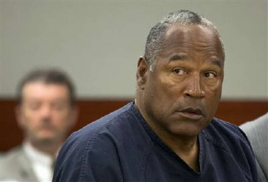 In this May 16, 2013, file photo, O.J. Simpson listens during an evidentiary hearing in Clark County District Court, in Las Vegas. Photo: AP / Pool AP