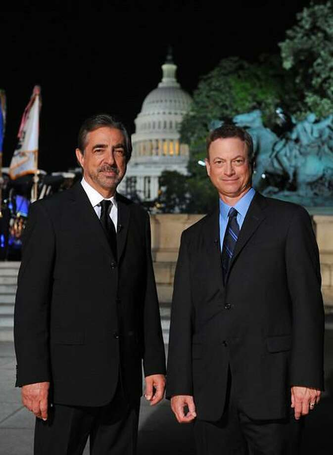 Co-hosts Joe Mantegna, left, and Gary Sinise.