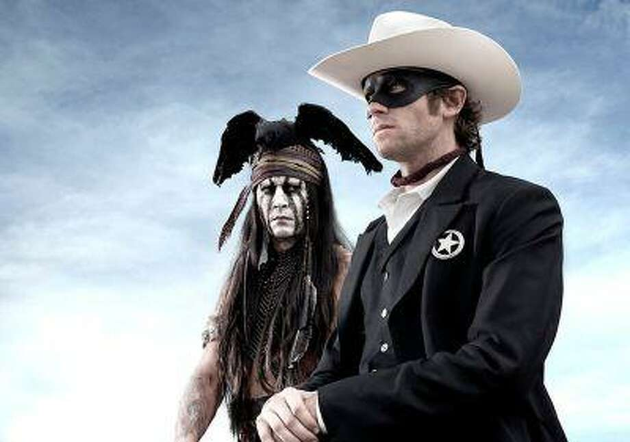 Johnny Depp as Tonto and Armie Hammer as 'The Lone Ranger' (Peter Mountain/Disney) Photo: Disney / ©2012 Disney and Jerry Bruckheimer, Inc.