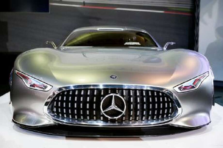 The Mercedes-Benz AMG Vision Gran Turismo concept vehicle is introduced at the Los Angeles Auto Show on Nov. 20, 2013, in Los Angeles.