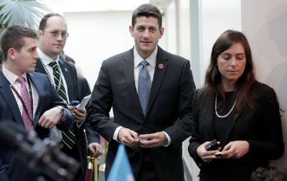 Rep. Paul Ryan, R-Wisc., speaks to reporters on Capitol Hill. Despite his presidential aspirations, some strategists say Republicans in Congress shouldn't run in 2016. Photo: Getty Images / 2013 Getty Images