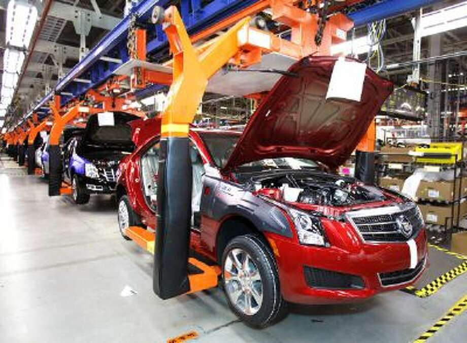 LANSING, MI, - JULY 26: A 2013 Cadillac ATS goes through production on the assembly line at the General Motors Lansing Grand River Assembly Plant July 26, 2012 in Lansing, Michigan. The first 2013 Cadillac ATS available for retail sale rolled off the assembly line today at the plant. (photo by Bill Pugliano/Getty Images) Photo: Getty Images / 2012 Getty Images