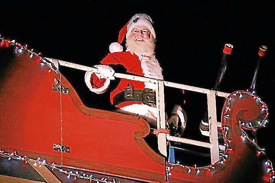 Submitted photo - Town of IvorytonSanta arrives at the 2012 Illuminations celebration in Ivoryton. Photo: Journal Register Co.