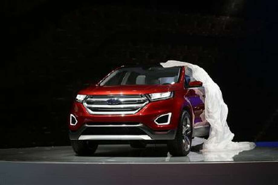 The new Ford Edge concept vehicle is introduced at the Los Angeles Auto Show on Wednesday, Nov. 20, 2013, in Los Angeles. Photo: AP / AP