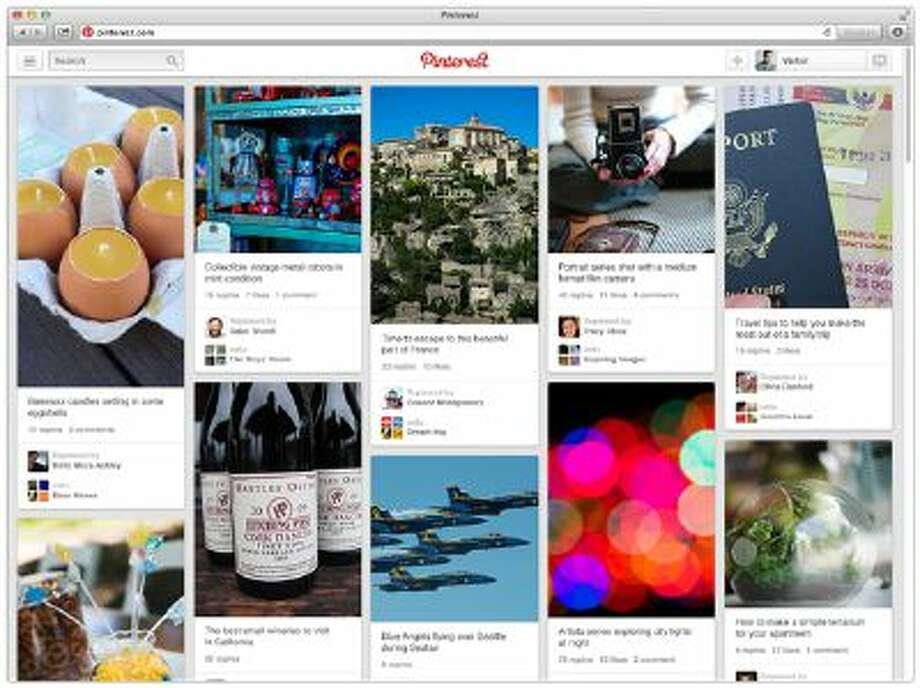 Screenshot of the Pinterest homepage.