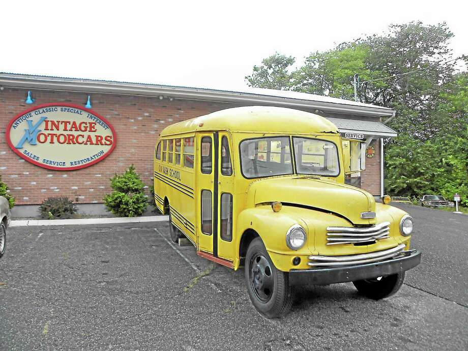 Submitted photo A rare1948 Nash-Kelvinator School bus has made its final stop in Westbrook this week at Vintage Motorcars on Boston Post Road, prior to a full restoration. When complete, the owner will donate the vehicle to the Nash Museum. Bus owner Thomas Harrington, who lives outside Paris, had only one request: To do it right. Photo: Submitted Photo