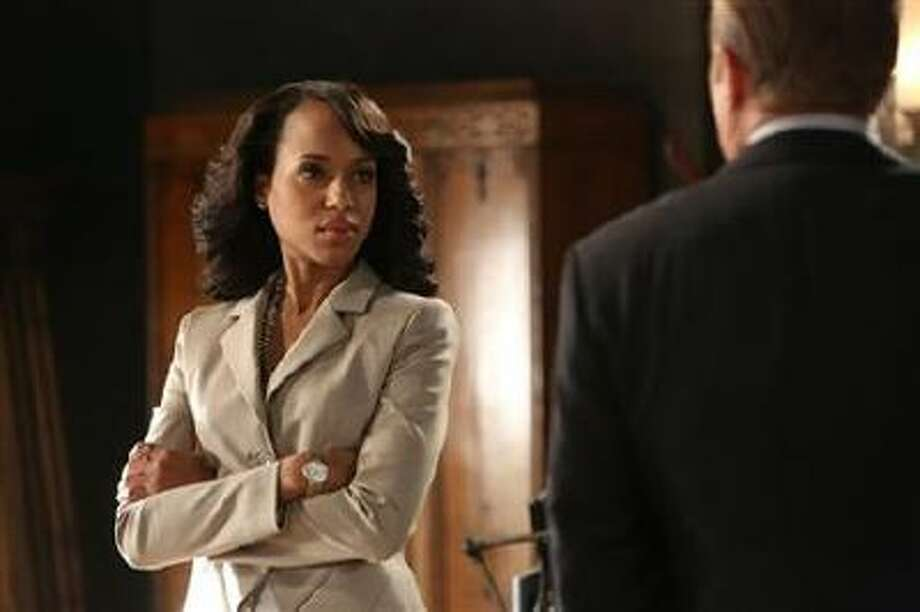 """This publicity image released by ABC shows Kerry Washington is in scene from """"Scandal."""""""