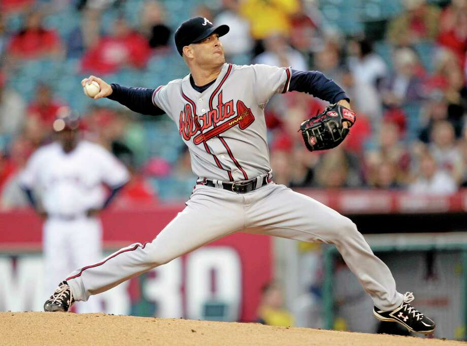 The San Francisco Giants finalized an agreement Monday on a $23 million, two-year contract with free agent right-hander Tim Hudson. Photo: Jae C. Hong — The Associated Press  / AP