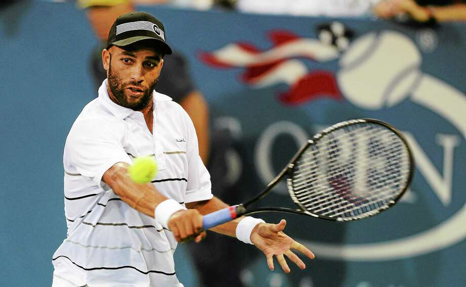 James Blake, shown here at the 2012 U.S. Open, announced on Monday that he will retire from tennis after this year's U.S. Open. Photo: Henny Ray Abrams — The Associated Press  / AP2012