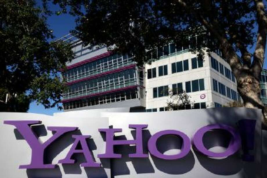 This Oct. 17, 2012 photo shows a sign in front of Yahoo! headquarters in Sunnyvale, Calif.