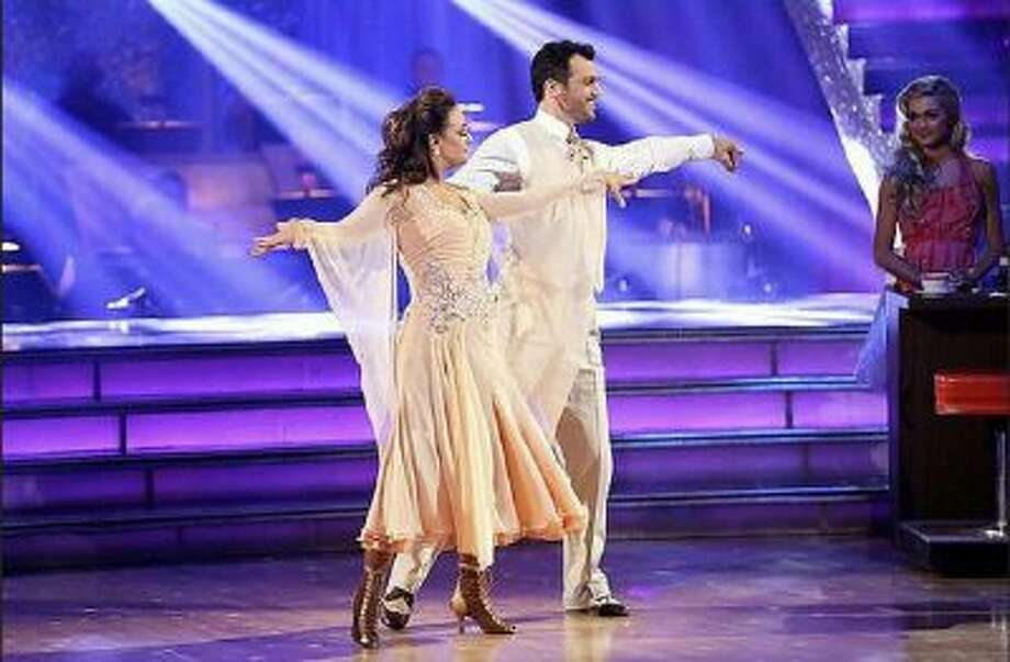 Leah Remini and Tony Dovolani perform during 'Dancing with the Stars' on Monday, Nov. 4, 2013.