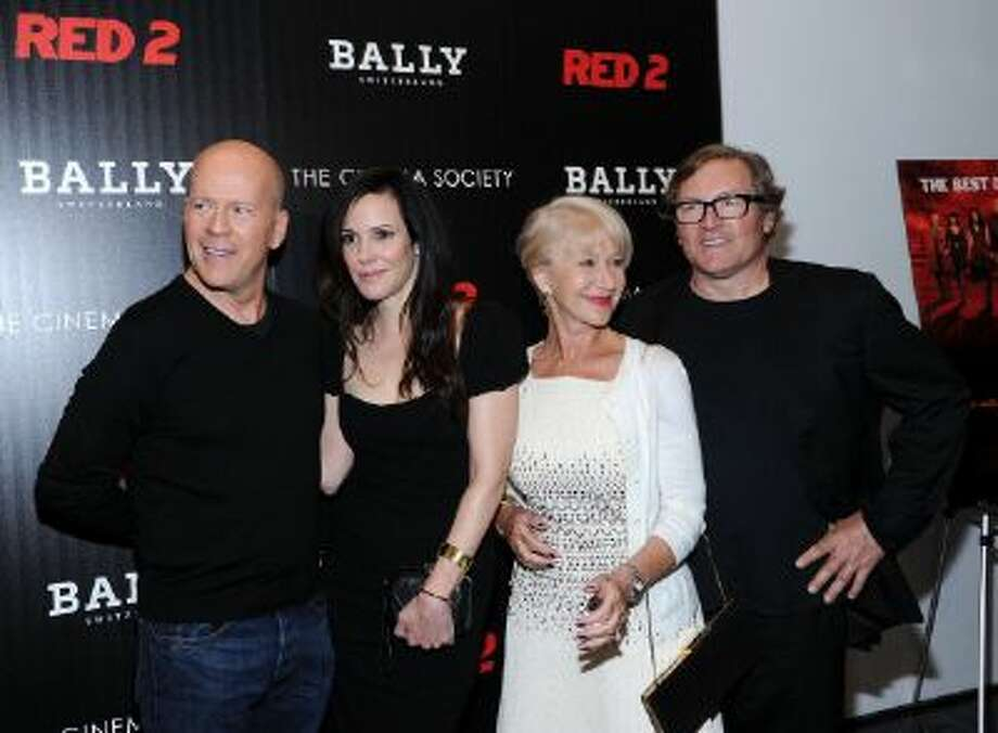 Actors Bruce Willis, Mary-Louise Parker, Helen Mirren and director Dean Parisot attend The Cinema Society And Bally Host A Screening Of Summit Entertainment's 'Red 2' at The Museum of Modern Art on July 16, 2013 in New York City. Photo: FilmMagic / 2013 Ilya S. Savenok