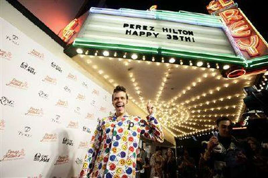Come on, Perez Hilton. Surely you own other clothing. Photo: AP / WINNK for Perez Hilton