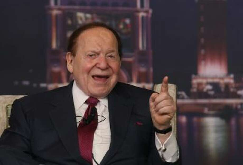 Las Vegas Sands Chairman and CEO Sheldon Adelson speaks at a news conference for the Sands Cotai Central in Macau, April 2012.