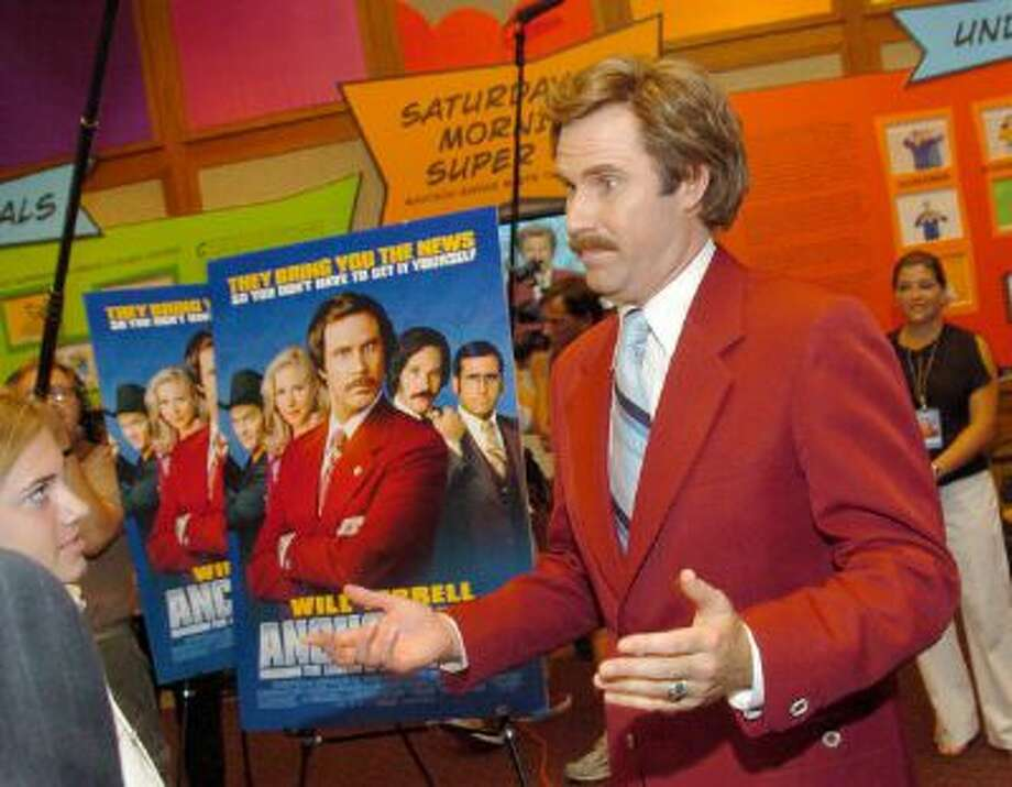 "Will Ferrell as Ron Burgundy during ""Anchorman The Legend of Ron Burgundy"" New York Premiere. Photo: WireImage / WireImage"