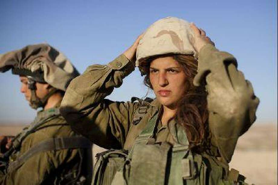 A female soldier from the 'Karakal' mixed-sex battalion, formed in 2004.