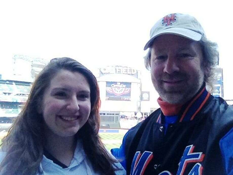 Andy Weinstein and his daughter, Shayna Weinstein, spent the day at opening day at Citi Field, where Andy celebrated his 40th New York Mets opening day in a row. Contributed photo.