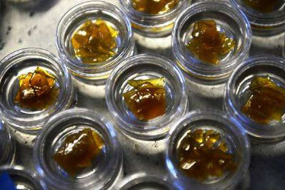"Satter hash, packaged for labeling, was made using ""BHO"" butane hash oil extraction. Photo: DP / Copyright - 2013 The Denver Post, MediaNews Group."