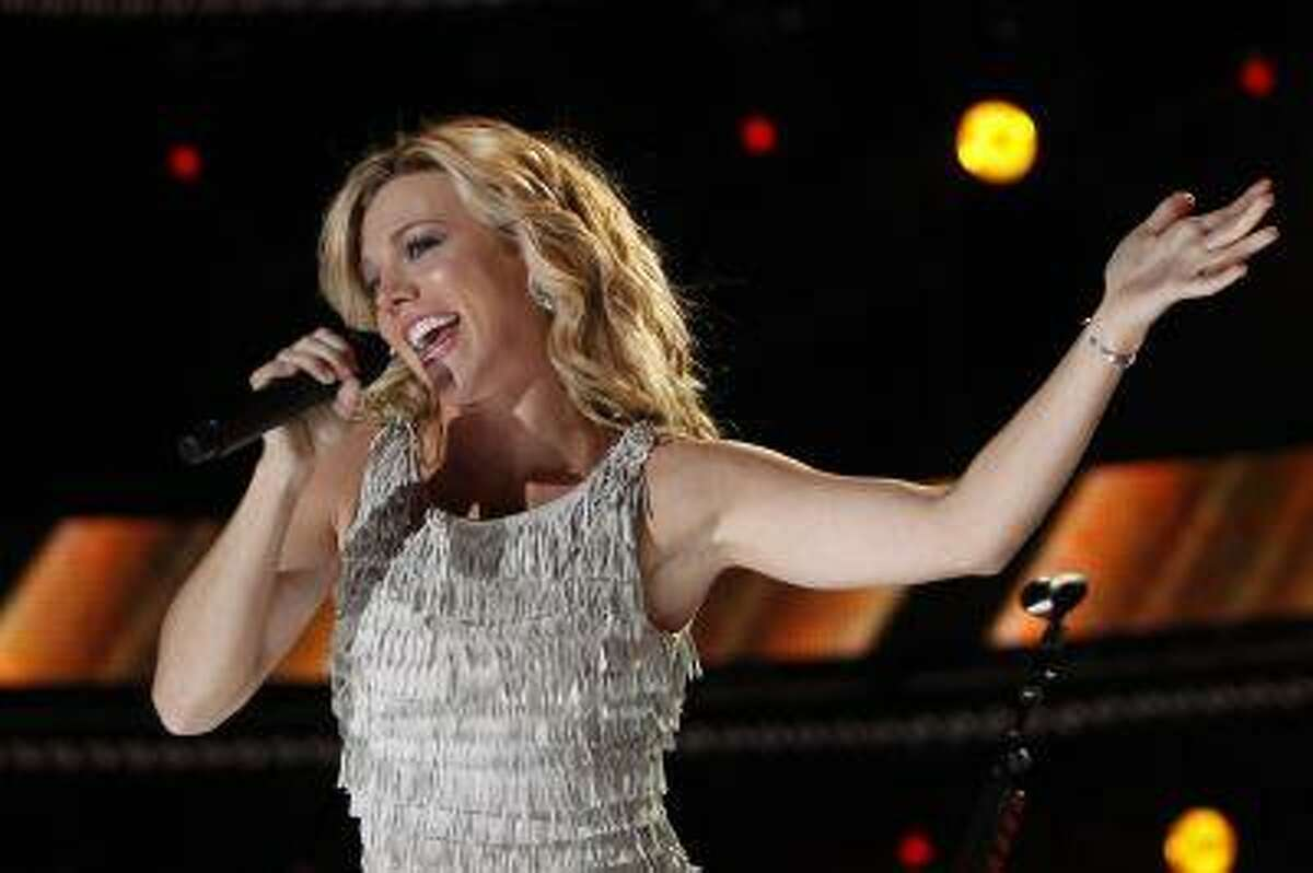 Kimberly Perry of The Band Perry performs during the Country Music Association (CMA) Music Festival in Nashville, Tennessee June 8, 2012.