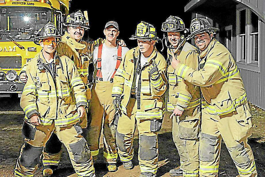 Olivia Drake - Special to the PressHaddam firefighters, from left: Jay Selmer, Rob Lenois, Jesse Drake, Dan Sullivan, Dan Dachelet and Nick Stekl. Photo: Journal Register Co.