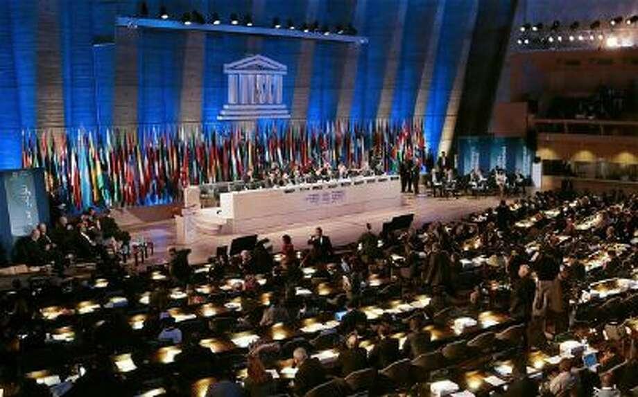 The Unesco Forum of Leaders meeting in Paris.
