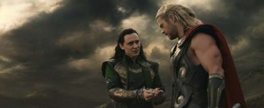 """Marvel's Thor: The Dark World"" L to R: Loki (Tom Hiddleston) and Thor (Chris Hemsworth)"