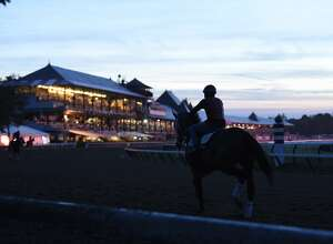 The sun breaks over Saratoga Race Course on Thursday, a day that is expected to be marked by a combination of daytime sun and clouds. But enjoy the nice weather while it lasts: Friday is expected to be rainy with thunderstorms moving in.