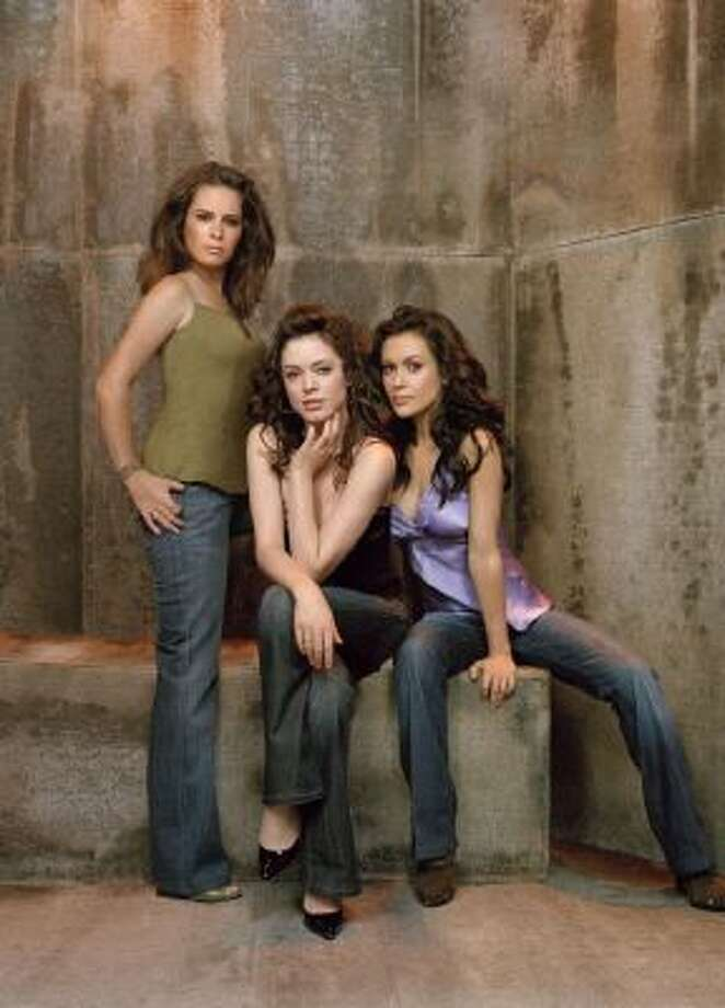 "Holly Marie Combs, Rose McGowan and Alyssa Milano as they appeared in the 8th and final season of ""Charmed."""