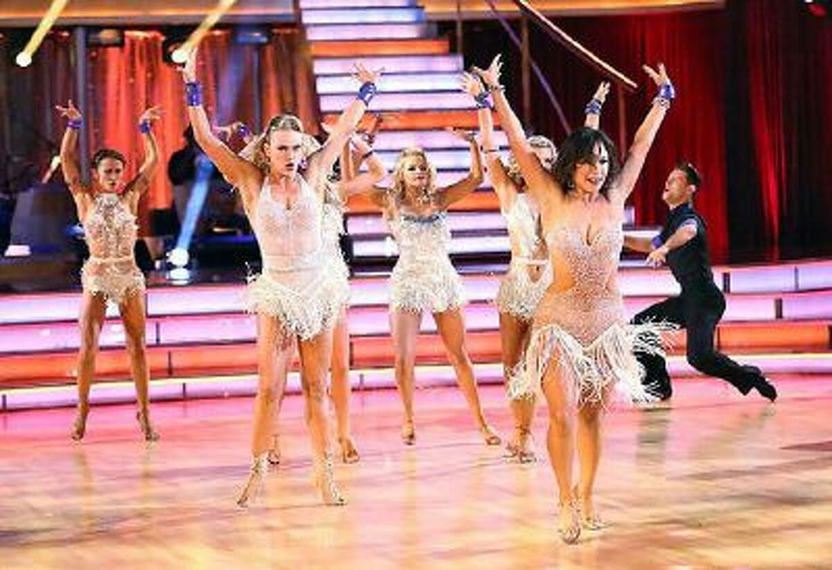 The entire cast at the start of 'Dancing with the Stars' on Monday, October 7, 2013.