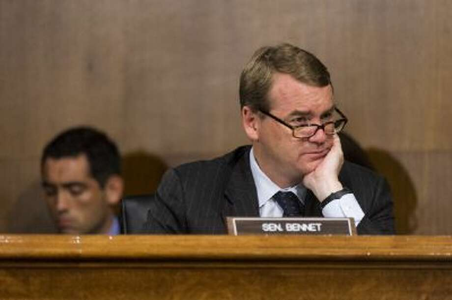 """Sen. Michael Bennet, D-Colo., speaks during the Senate Health, Education, Labor and Pensions Committee hearing focusing on employment discrimination against lesbian, gay, bisexual, and transgender Americans and the """"Employment Non-Discrimination Act."""" on Tuesday, June 12, 2012. Photo: Roll Call/Getty Images / © 2012 CQ Roll Call"""